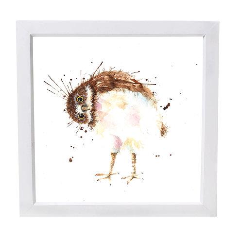 Silly Splatter Owl Framed Mini Print
