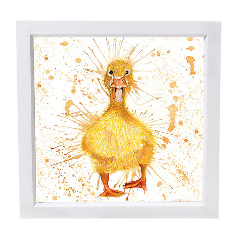 Excited Duckling Framed Mini Print