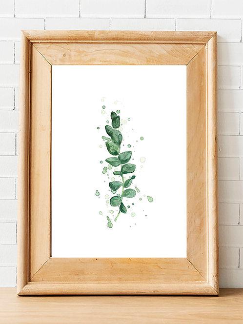 Splatter Eucalyptus Print