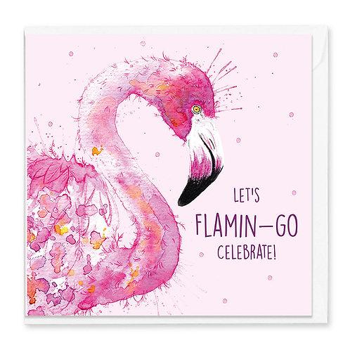 Birthday Flamingo Greeting Card