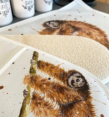 Just Hanging Sloth Tea Towel