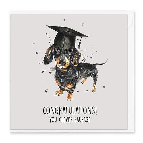 Graduation Sausage Greeting Card
