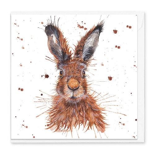 Wild Hare Greeting Card