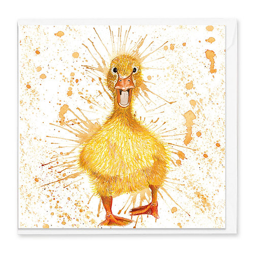 Excited Duckling Greeting Card