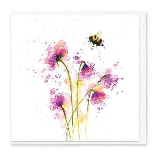 Splatter Cherry Blossoms Greeting Card