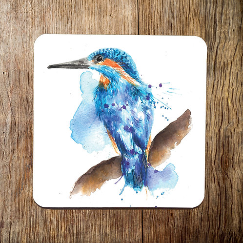 Splatter Kingfisher Coaster