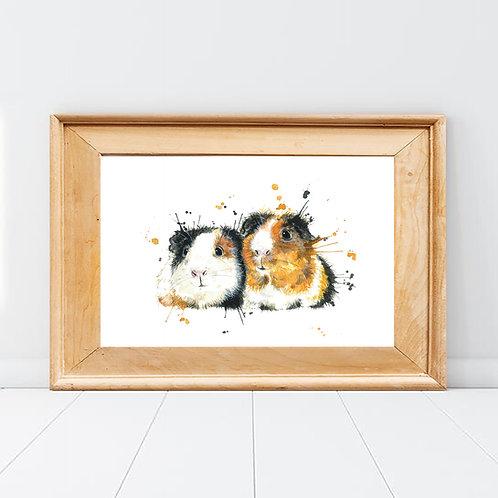 Splatter Guinea Pig Print