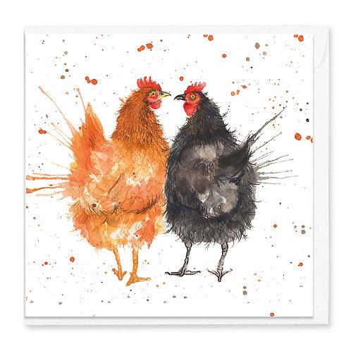Love Chicken's Greeting Card