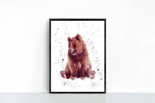 Splatter Bear Print