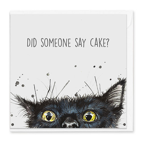 Birthday Cat Greeting Card