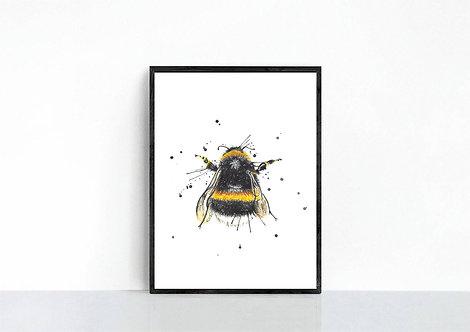 Splatter Bee Print