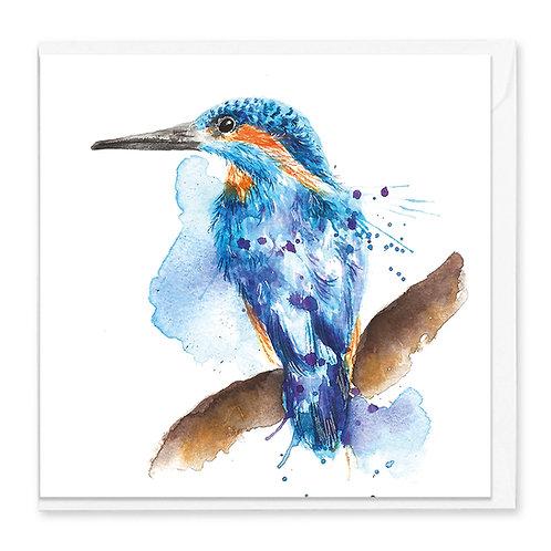 Splatter Kingfisher Greeting Card