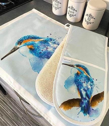 Splatter Kingfisher Oven Glove