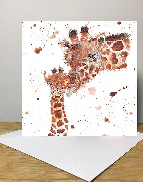 Splatter Giraffe's Greeting Card