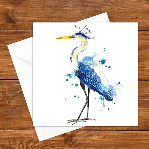 Splatter Heron Greeting Card