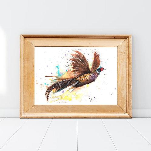 Fly Away Pheasant Print