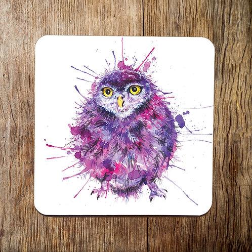 Cute & Fluffy Owl Coaster