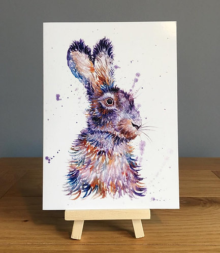 'The purple hare' Greeting Card