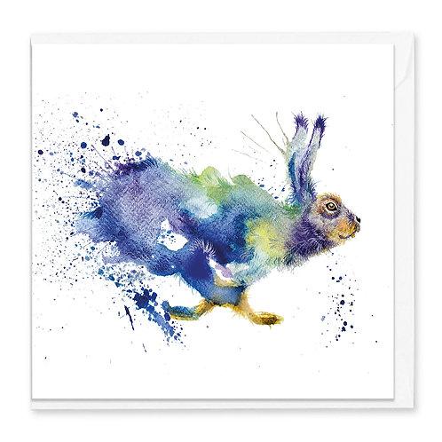Runaway Hare Greeting Card