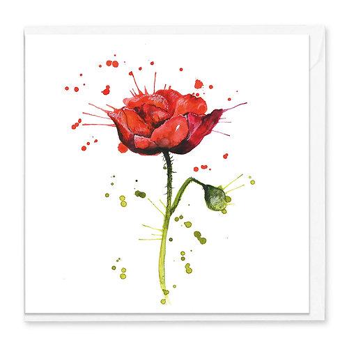 Splatter Rose Greeting Card