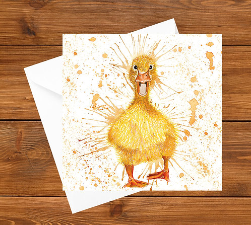 Splatter Duckling Greeting Card