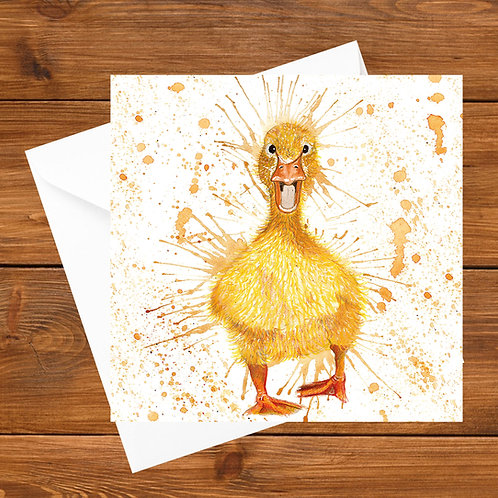 Splatter Duckling Greeting Card