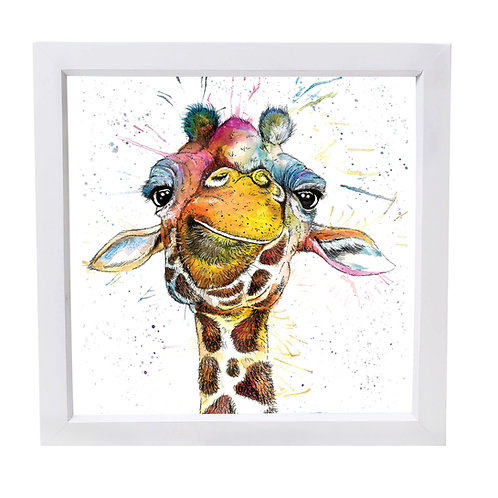 Rainbow Giraffe Framed Mini Print