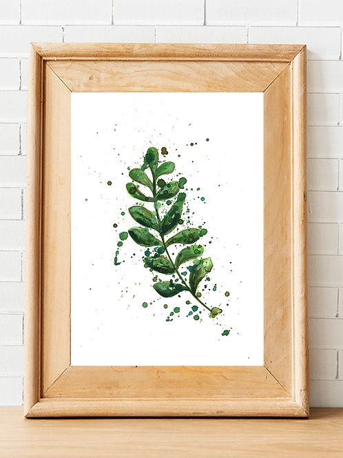 Splatter Leaf Print