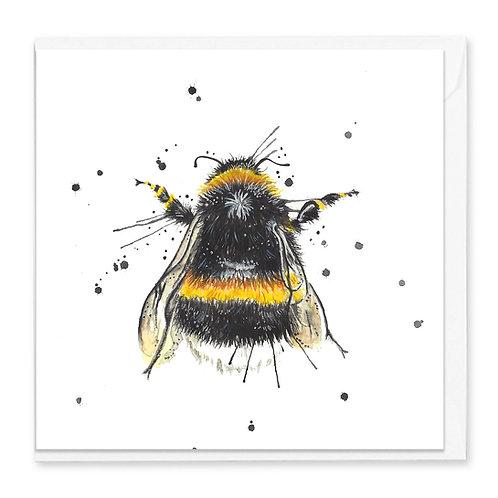 Splatter Bee Greeting Card
