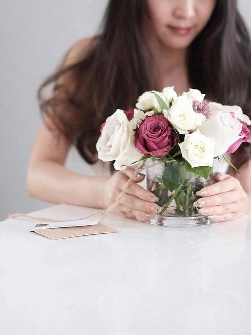 Glass Full of Rose Brims