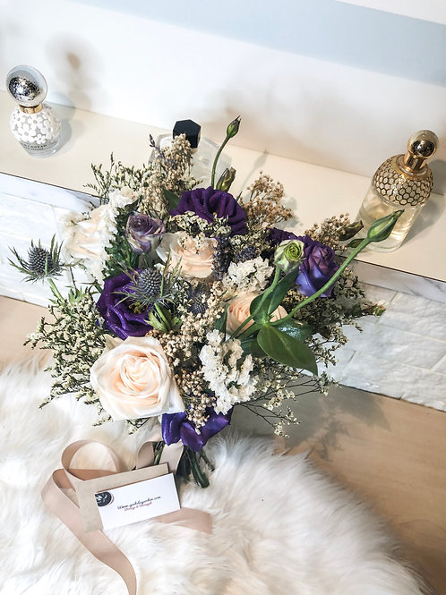 Mulberry Creams Hand Bridal Bouquet