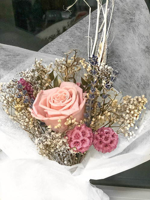 Dusty Pink Light Rose Preserved Bouquet