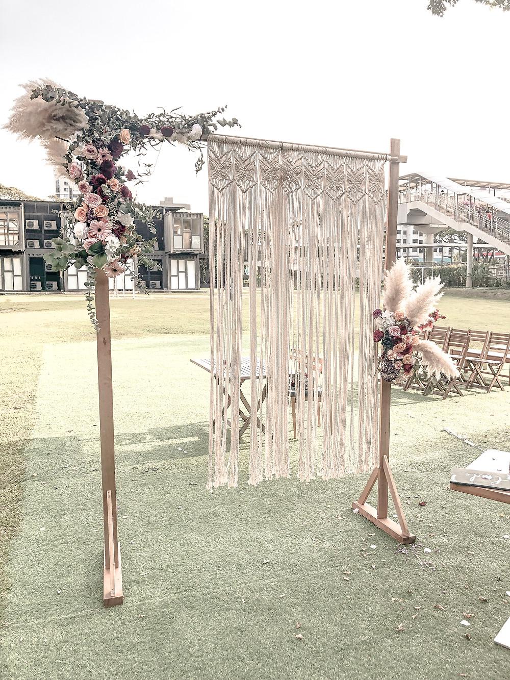 Pampas Wedding Arch Backdrop Singapore Florist