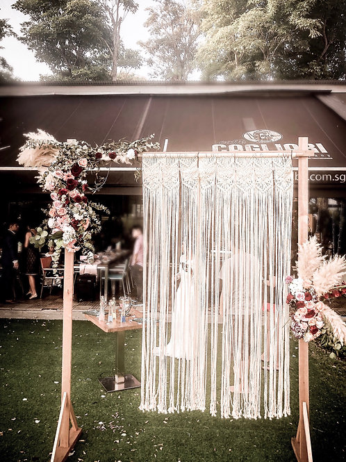 Wooden March-In Wedding Arch Rental