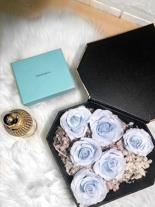 Preserved Roses in a Box - Baby Blue Timeless Edition
