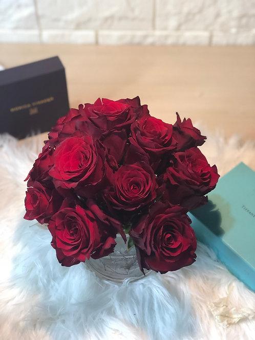 Vase Full of Red Roses - Modern Classic Style