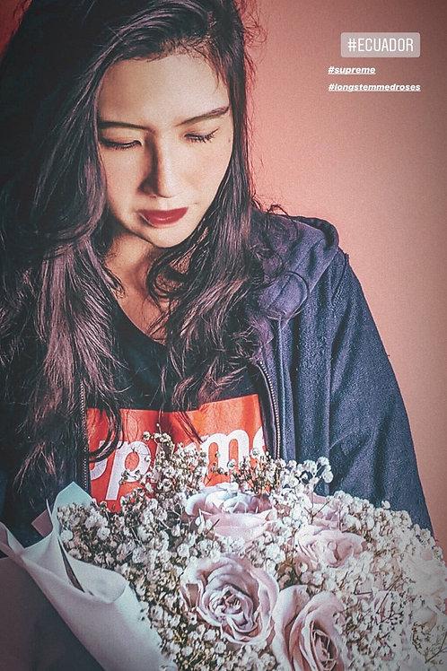 Ecuador Long Stemmed Rose Bouquet - White Wrapped Version