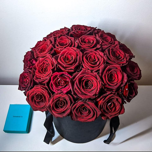 Red Roses in a Box - Preserved
