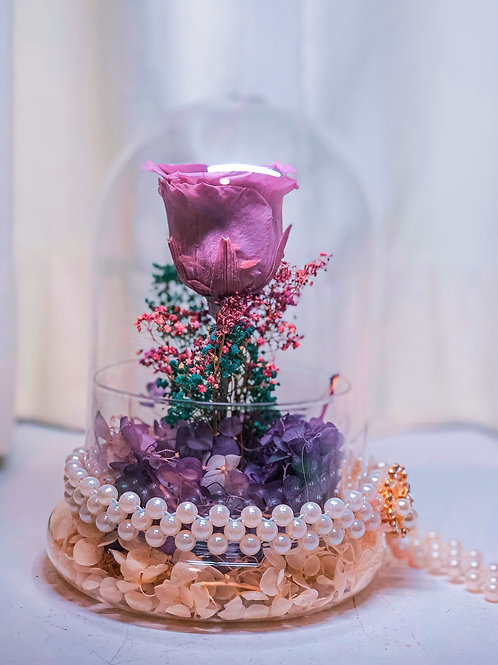 Lavender Baby - Preserved Rose with Dried Florals