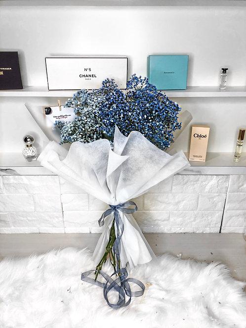 Giant Fresh Blue Baby's Breath Bouquet