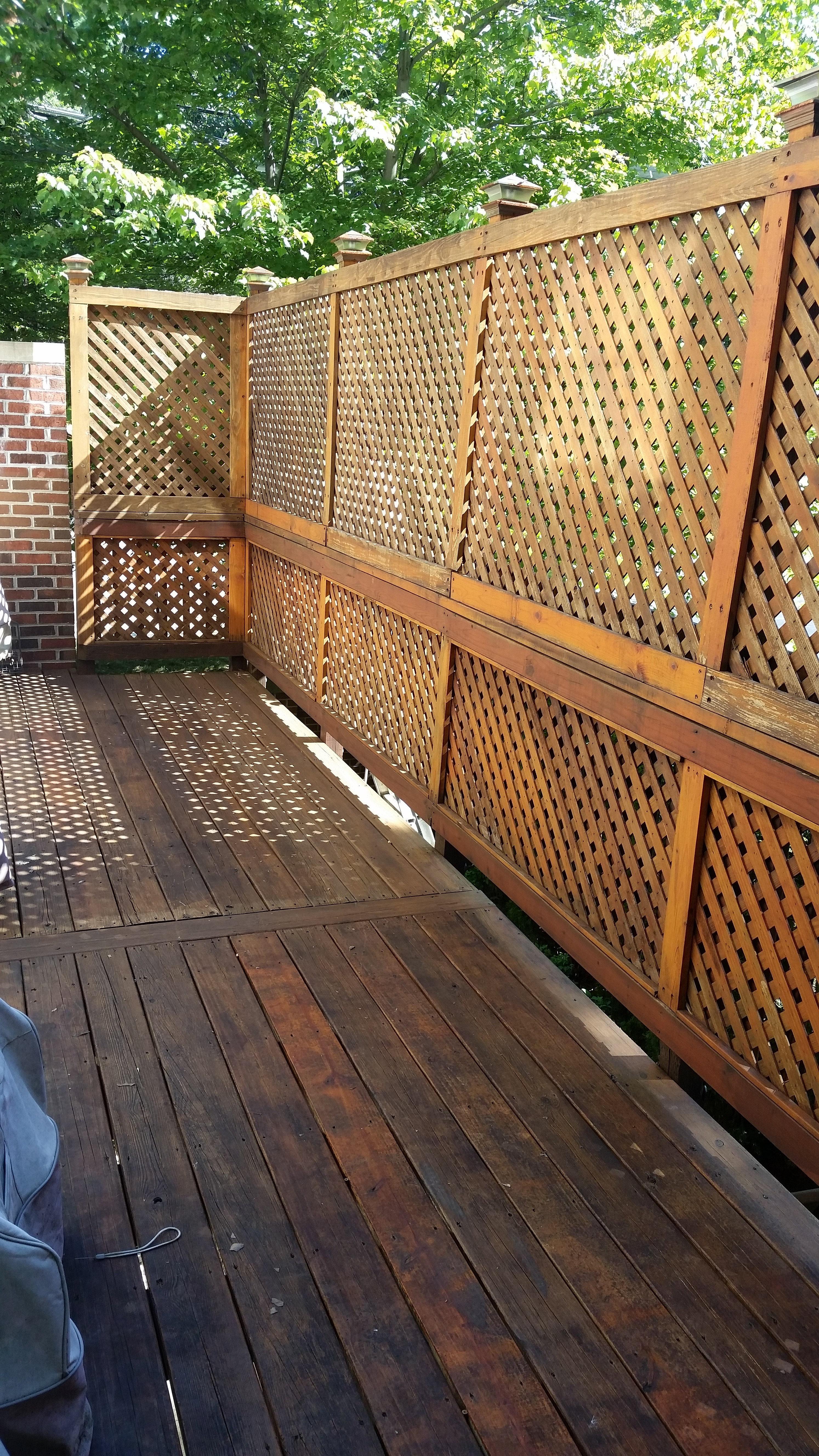 Power washing a deck - Chavira General Deck Power Washing