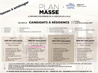 Appel à résident·e·s et collaborations inter-disciplinaires avec Plan Masse