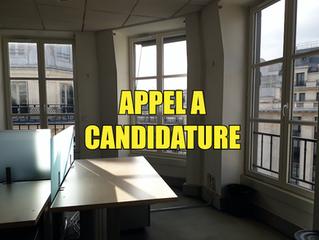 APPEL A CANDIDATURES // Paris 9e - 12 mois - 13 ou 20€ /m²/mois