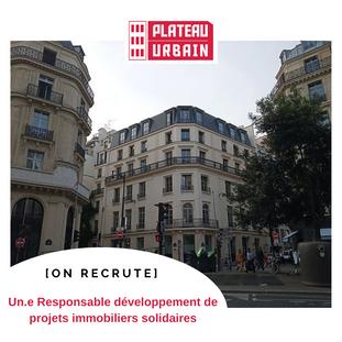 Responsable développement de projets immobiliers solidaires - Paris 9ème