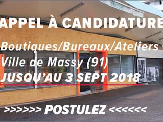 Appel à candidature : boutiques, bureaux et ateliers à Massy (91)