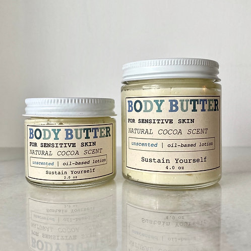 organic unscented body butter