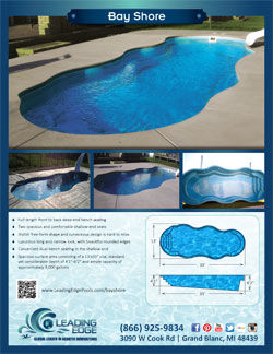 Leading Edge Bayshore Fiberglass Pool
