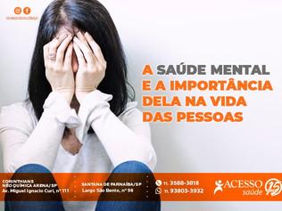 A saúde mental e a importância dela na vida das pessoas