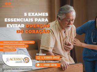 5 exames essenciais para evitar doenças do coração