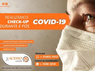 Covid-19: exames para identificar e check-up